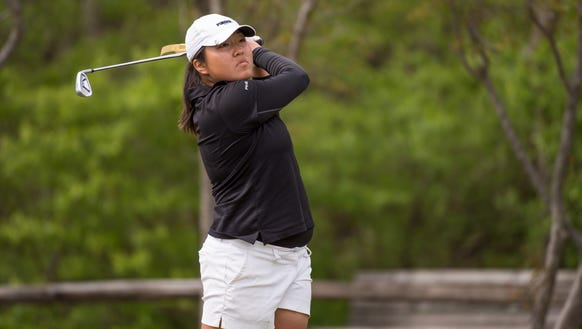 August Kim helped Purdue take the first round lead