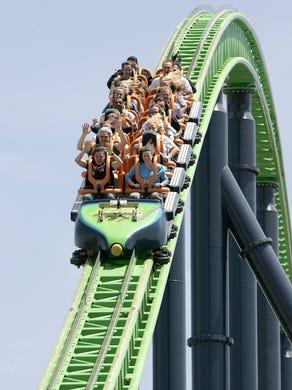 2005: The Kingda Ka roller coaster at Six Flags Great Adventure.
