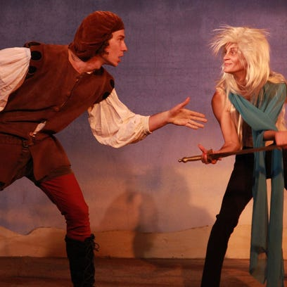 "Ferdinand and Ariel in ""The Tempest,"" presented by"
