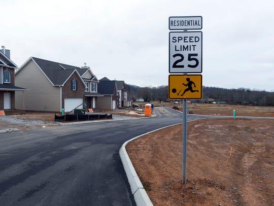 A new residential development on Gov. John Sevier Highway