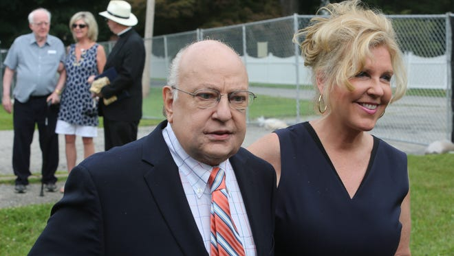 Roger and Elizabeth Ailes in Cold Spring on July 8, 2015.