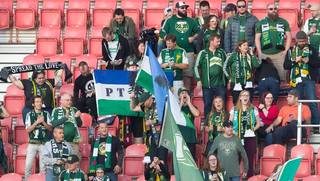 Portland Timbers fans prior to the match against Real Salt Lake at Rio Tinto Stadium.