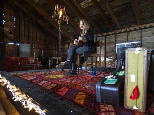 Singer Francesca Blanchard in Charlotte on Monday,