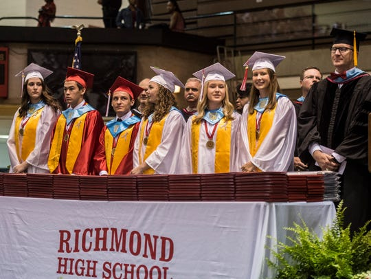 Nearly 300 seniors from Richmond High School received