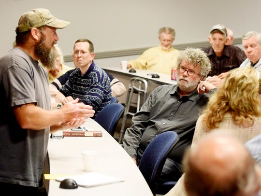 Rex Dukes of Keithville, La., founder of the Gulf Coast Patriot Network, spoke Oct. 24, 2017, at a We The People of Northwest Louisiana meeting in Shreveport, La.
