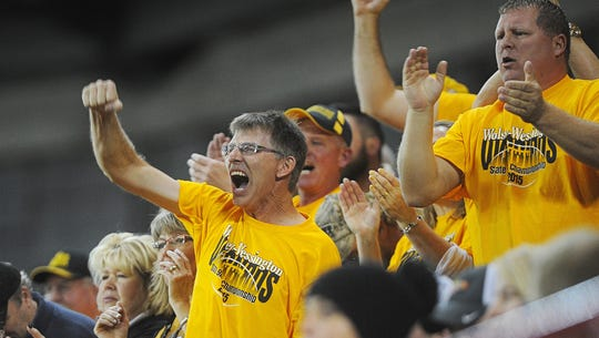 Wolsey-Wessington fans cheer on their team during the