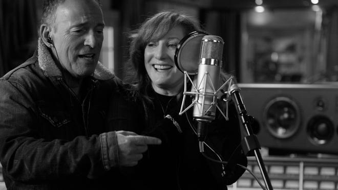 "Bruce Springsteen and Patti Scialfa in ""Bruce Springsteen's Letter to You,"" premiering Oct. 23 on Apple TV+."