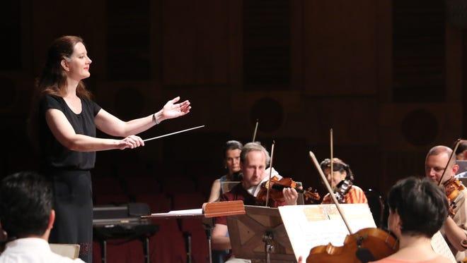 Lisa Foltz conducts the Big Bend Community Orchestra.