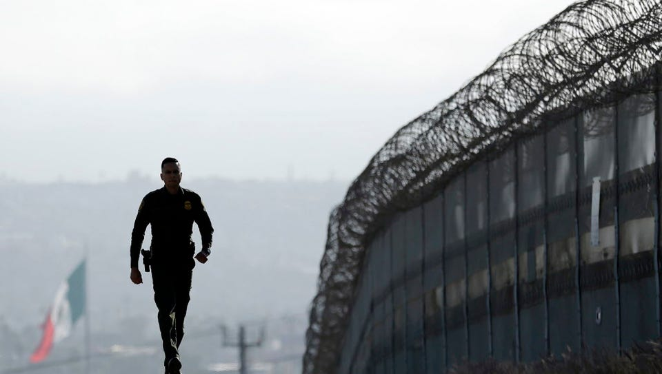 U.S.-Mexico Texas border fence.