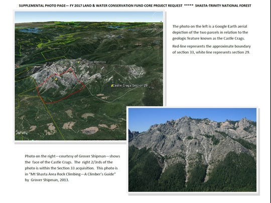 These two images show the area of the Castle Crags