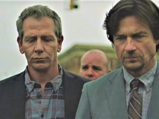 """Ben Mendelsohn and Jason Bateman in """"The Outsider."""""""