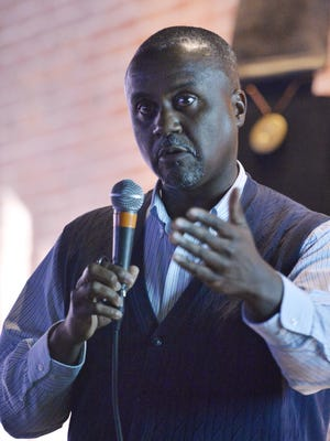Boyd Stephens talks during MGM Revolution's Social Media Day 2014.