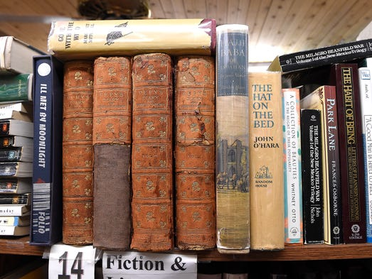 A selection of used books at Bookman Bookwoman in Hillsboro