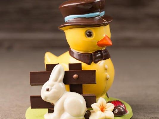Edward the Duck Chocolate Sculpture