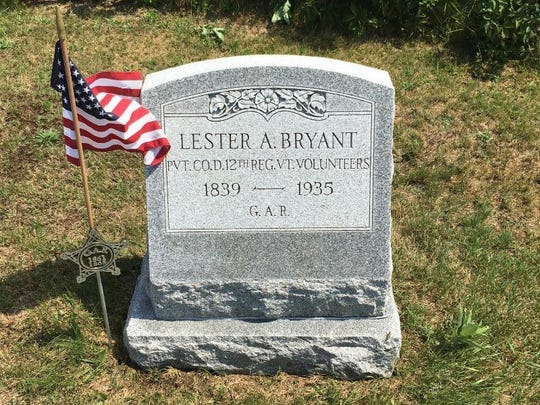 The Lester Bryant stone after the cleaning.