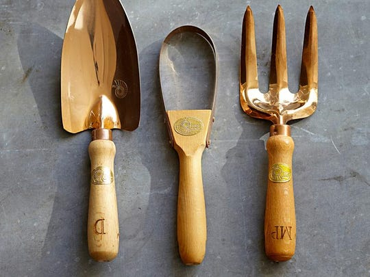 These <137,2014/05/07,Womack/c Jacqueline1>copper <137>gardening tools by Williams-Sonoma, inscribed with Mom's initials, would make a <137,2014/05/07,Womack/c Jacqueline1>welcome<137> gift for the green-thumbed matriarch.