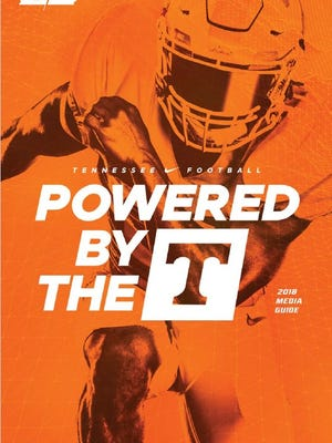 Here's the cover of Tennessee's 2018 media guide.