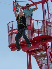 You can give zip lining a try at this year's Earth Day on Saturday.