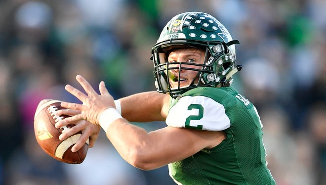 Greeneville's Cade Ballard threw for 3,148 yards and 38 touchdowns with five interceptions last year.