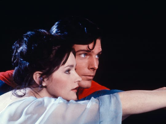 "Margot Kidder and Christopher Reeve star in ""Superman"""
