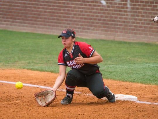 UL red-shirt freshman first baseman Kourtney Gremillion has been consistent defensively all season.