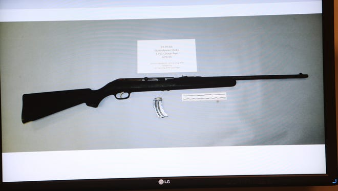 Police say QuanDavier Hicks confronted them with this rifle.