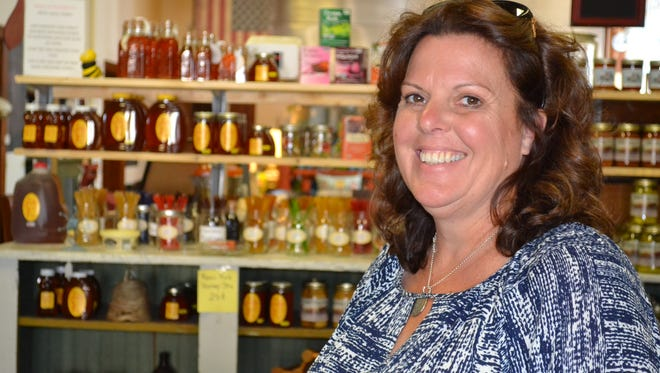 Patti Andover opened Back in Thyme after retiring to Port Clinton as a way to sell her handmade soaps, honey produced from her family's hives and produce that grows on her family's farm.