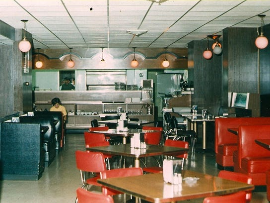 The former interior of House of Pizza.