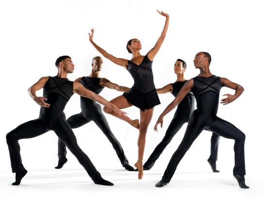"Dance Theatre of Harlem, pictured performing ""New Bach,"""