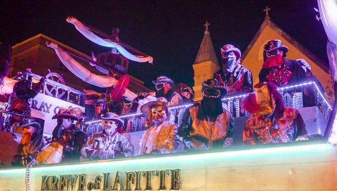 2017 Krewe of Lafitte Illuminated Mardi Gras Parade.