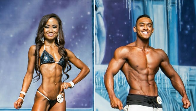 Husband and wife, Kenny Favo and Angie Andrada, won in their respective divisions in the National Physique Committee Texas Cup on Dec. 10.