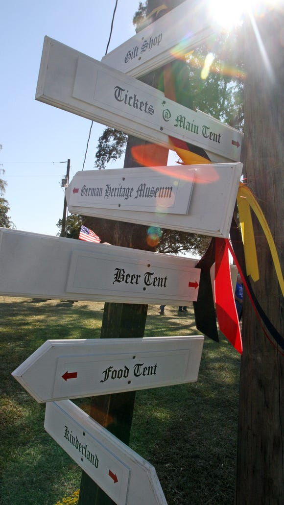 This Advertiser file photo shows signs at Germanfest in Roberts Cove.
