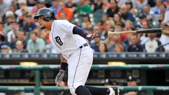 Tigers' Miguel Cabrera grounds out in the first inning in Tuesday's 8-4 win against the White Sox. Cabrera will rest his ankle Wednesday and will not play in the finale.