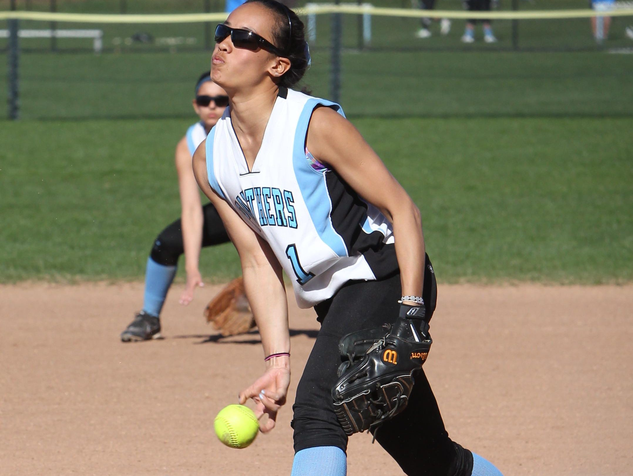 Rye Neck pitcher Diana King during a game with Ardsley at Rye Neck April 28, 2015.