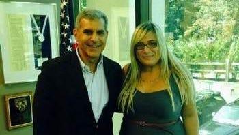 Jess Zufall-Guberman with Senator Kyrillos