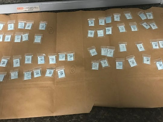 Police say they found bundles of heroin in an Elkton, Maryland man's vehicle.
