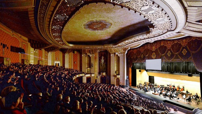 Guests attend an Erie Philharmonic performance inside the Warner Theatre in Erie on Jan. 18, 2020.