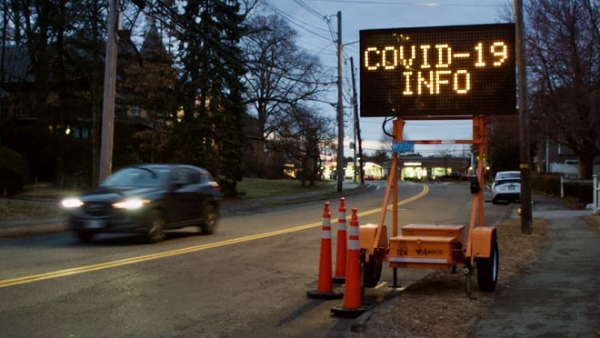 File photo: COVID-19 information in Needham.