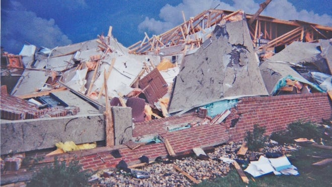 Damage to the Project Turnabout facility following the 2000 tornado that swept through Granite Falls
