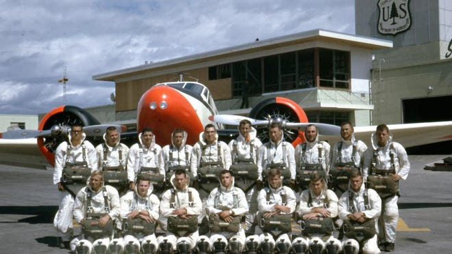 Jim Darr (third from right in the back row) spent several years in the 60s and 70s as a smoke jumper.