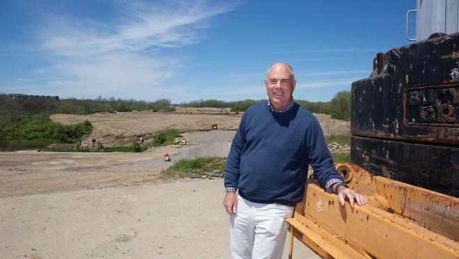 Developer Mark Wagenbrenner at the new Quarry Trails development