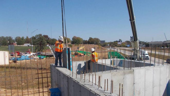 File - Construction at Exit 185, Pedestrian Bridge. Photo submitted by Chester Kojro