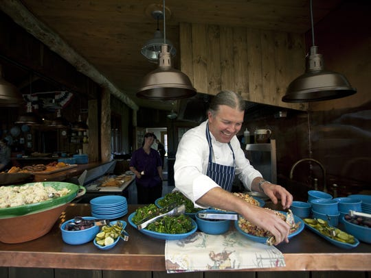 Executive chef Josh Drage prepares a meal at the Ranch