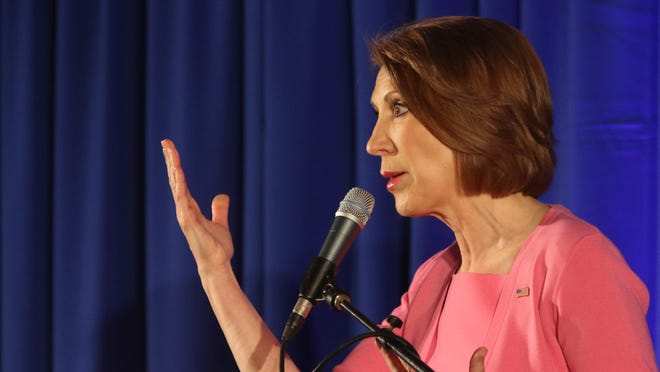 Republican presidential candidate Carly Fiorina told delegates Saturday at the Delaware GOP convention in Wilmington that Washington needs more leaders, not managers.