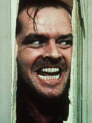 Jack Nicholson, portraying Jack Torrance in the movie