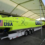 Power boat race teams, including Miss Geico, get settled in at race village Port of Pensacola on Wednesday in preparation for this weekend's inaugural Pensacola Grand Prix power boat race in Pensacola Bay. The race is in addition to the 11th annual Thunder on the Gulf in Orange Beach which takes place on Thursday and Friday.