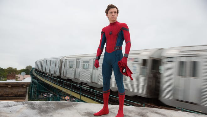 "Holland's first solo Spider-Man film is ""Homecoming."""