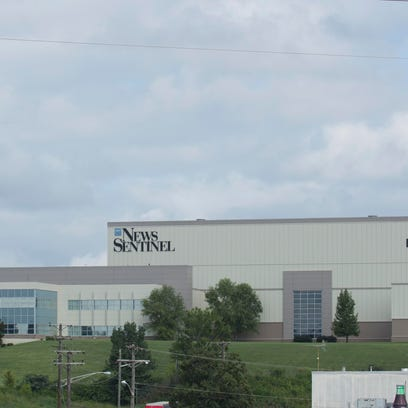 The Knoxville News Sentinel building pictured Aug.