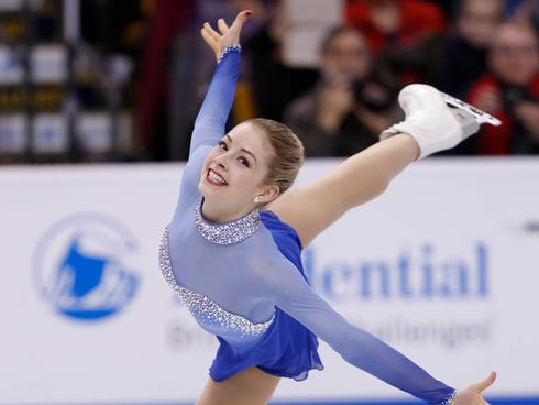 Gracie Gold performs during the free skate at the U.S. Figure Skating Championships at TD Garden on Saturday.