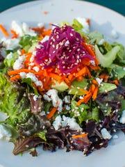 A garden salad at American Flatbread in Waitsfield.